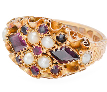 At First Glance - Victorian Garnet Ring