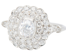 Arabesque - Sensational Diamond Cluster Ring