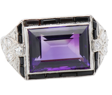 Amethyst Divine - Art Deco Ring of Note