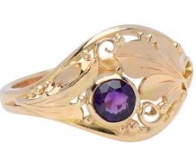 Transmutation - Art Nouveau Amethyst Ring