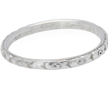 Platinum Flowers in a Vintage Eternity Band