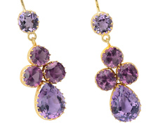 Amethyst Royale - Pendant Earrings