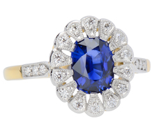 Sapphire Diamond Galore Halo Ring