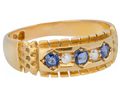 English Sapphire Diamond Ring