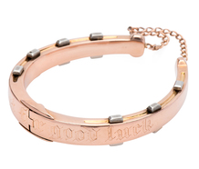 """Wear it for Good Luck"" Horseshoe Bangle"