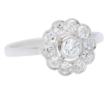 Daily Blooms - Diamond Set Flower Cluster Ring