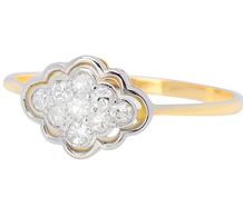Vintage English Diamond Cluster Ring