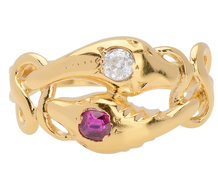 Eternity Doubled - Snake Ring with Gems
