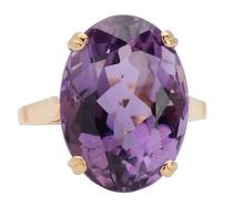 Regal Estate Amethyst Ring