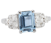 Blue Rhapsody - Aquamarine Diamond Ring