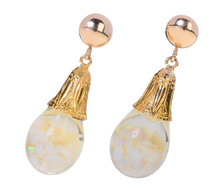 Art Deco Floating Opal Earrings