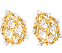 A Gilded Cage - Spectacular Diamond Earrings