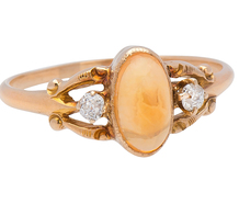 Tangerine Honey Opal Ring