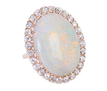 High Definition in an Opal Halo Ring