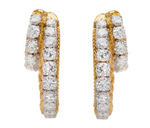 French Twist - Diamond Earrings
