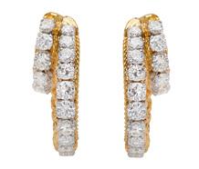 French Twist - Diamond Earrings