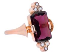 Harmony - Almandine Garnet Pearl Ring