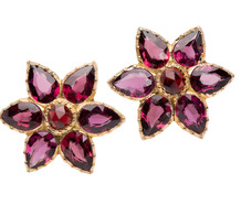Glittering Dreams - Antique Garnet Earrings