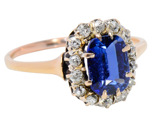 Mediterranean Blue Sapphire Diamond Ring