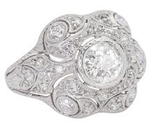 Art Deco Decadence - Diamond Platinum Ring