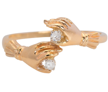 Hand in Hand Ring with Diamonds