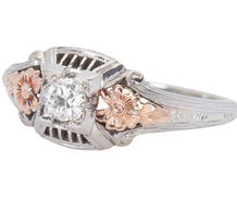 Granat Bros. Rose Gold Diamond Ring
