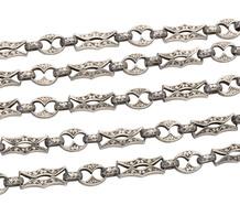 Impressive Celtic Revival Victorian Silver Chain