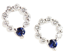 Wreath of White - Diamond Sapphire Earrings