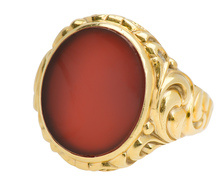 Swirling Magic - Edwardian Carnelian Signet Ring