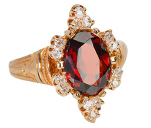 Victorian Dessert - Luscious Garnet Ring