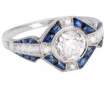 A Perfect Proposal Diamond Sapphire Ring