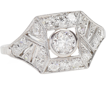 Prism Play - Art Deco Diamond Ring
