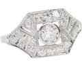 Prism Play - Art Deco Diamond Ring