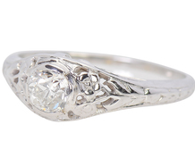 Old Mine Cut Floral Diamond Ring