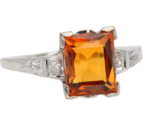 Bumble Bee Honey - Vintage Citrine Ring