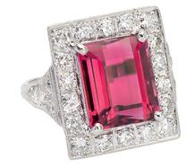 Grand Tourmaline Diamond Ring