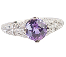Vintage Inspiration - Sapphire Diamond Ring