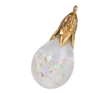 Art Deco Floating Opal Pendant & Chain