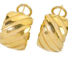 American Icon - Tiffany 18k Gold Earrings