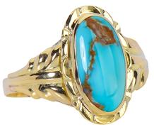Austrian Art Nouveau Turquoise Ring