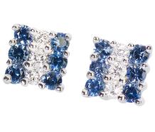 Candy Stripes - Sapphire & Diamond Earrings