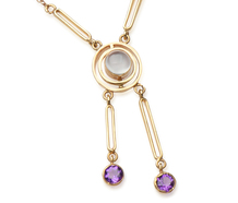 Moonstone Amethyst Négligée Necklace