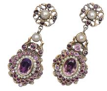 Vintage Austro-Hungarian Pendant Earrings