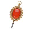 Tick Tock - Victorian Carnelian Watch Key