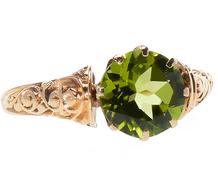 Circa 1910 Peridot Ring
