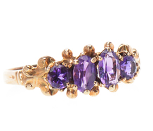 Four of a Kind - Edwardian Amethyst Ring