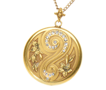 Why? Why Not - Art Nouveau Pendant Locket