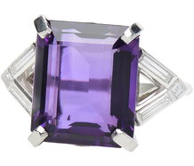 Royalty in an Amethyst Diamond Ring