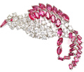 Birds of a Feather - Ruby Diamond Brooch