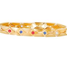 Slinky & Sensuous Gem Studded Bracelet